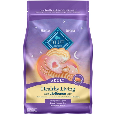 Blue Buffalo Healthy Living Chicken & Brown Rice Recipe Adult Premium Dry Cat Food - image 1 of 4