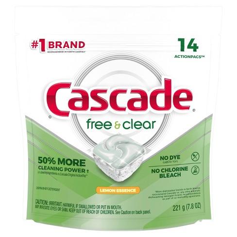 Cascade Free & Clear Action Pacs Lemon Essence - image 1 of 2