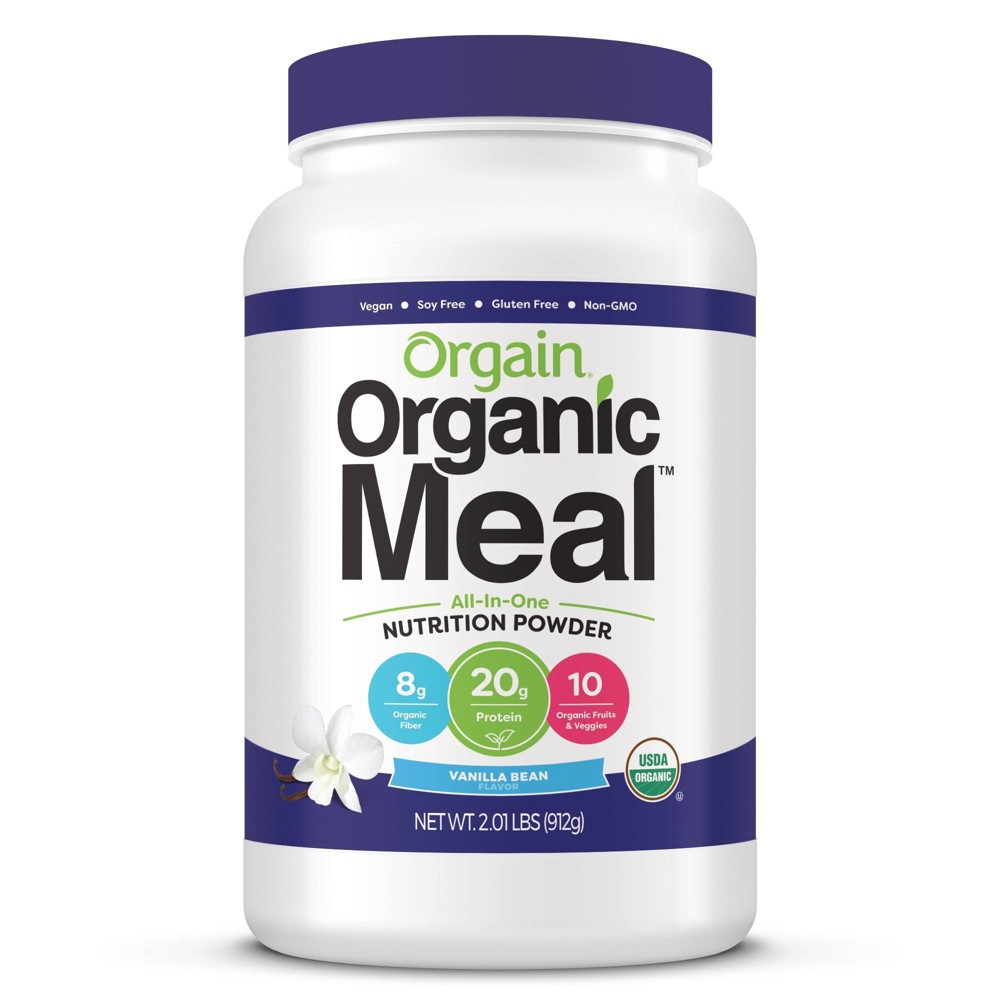 Orgain Organic Meal Nutritional Protein Powder - Vanilla Bean - 2.01lb The perfect solution for anyone serious about complete, organic nutrition. Each delicious serving contains organic protein, fruits and veggies, and sprouts and greens. Orgain Organic Meal Powder is an ideal, all-in-one meal replacement with the perfect balance of nutritious and delicious. Gender: Unisex. Age Group: Adult.
