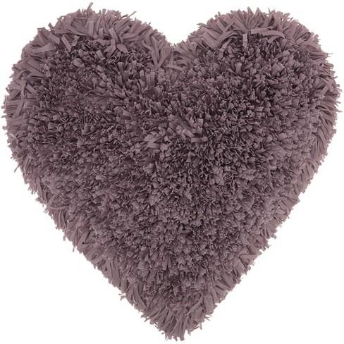 Mina Victory Frame Heart Shag Throw Pillow - image 1 of 4