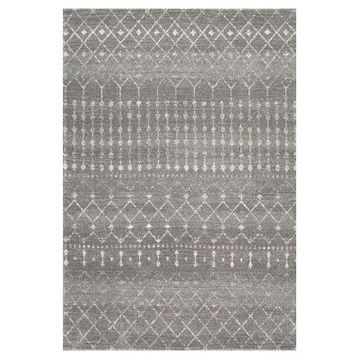 Dark Gray Abstract Loomed Area Rug - (8'x10')- nuLOOM