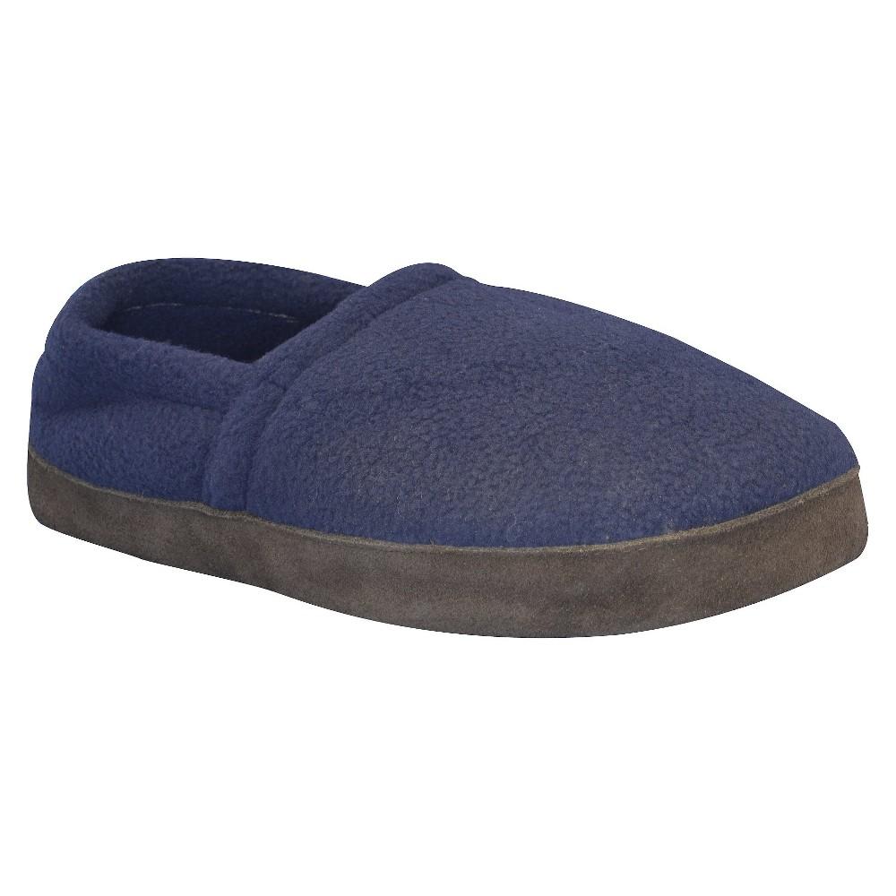 Men's Muk Luks Fleece Espadrille Slippers - Navy (Blue) M(9-10), Size: M (9-10)