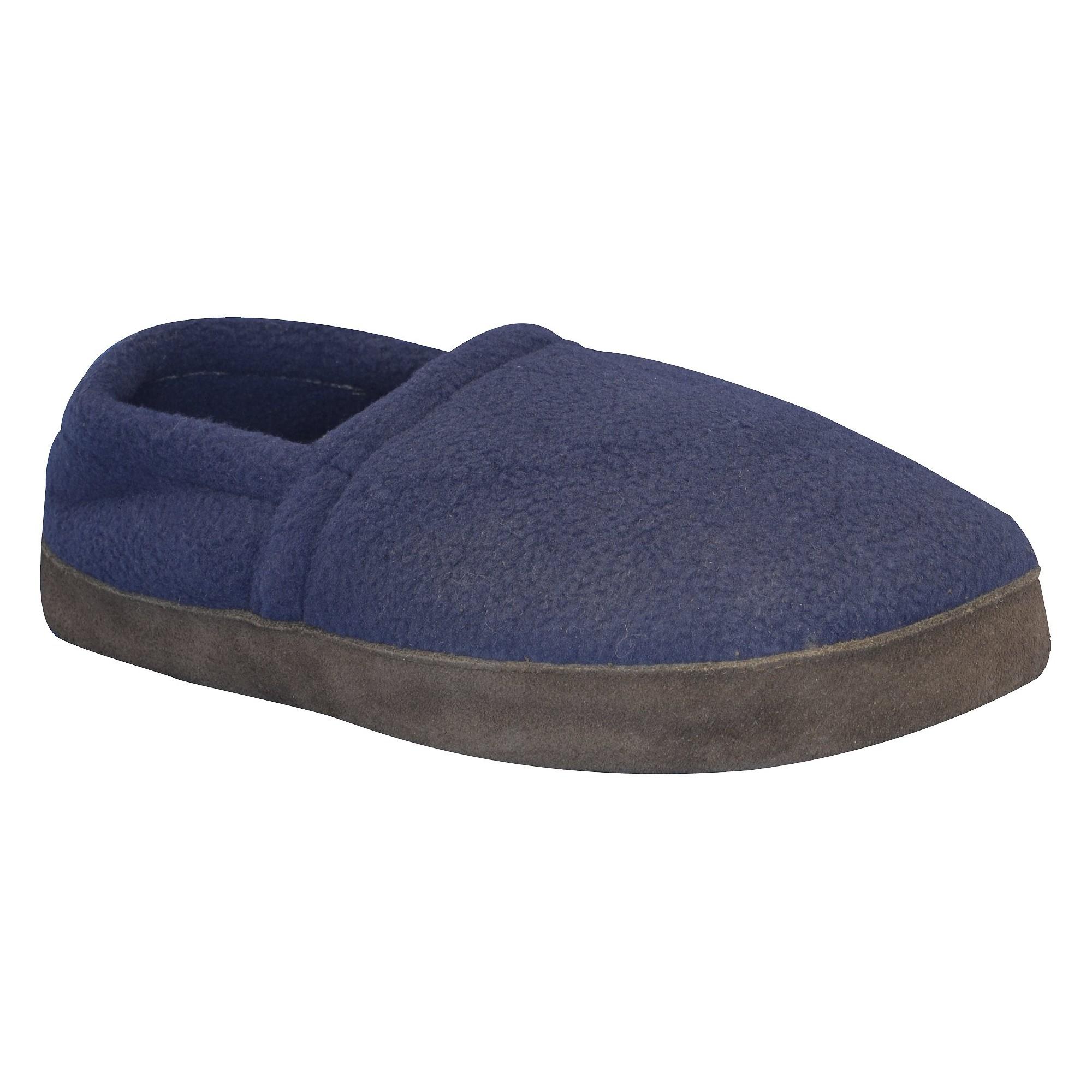 Men's MUK LUKS Fleece Espadrille Slippers - Navy S(7-8), Women's, Size: Small (7-8), Blue