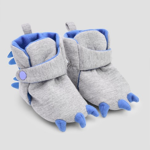 Baby Boys' Dino Wrap Slipper Boots - Cat & Jack™ Gray - image 1 of 1
