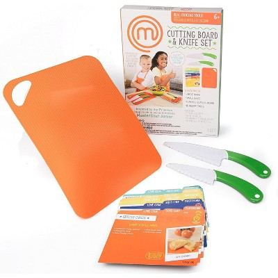 Jazwares MasterChef Junior Knife and Cutting Board Set - Includes Real Cutting Tools for Kids and Recipes
