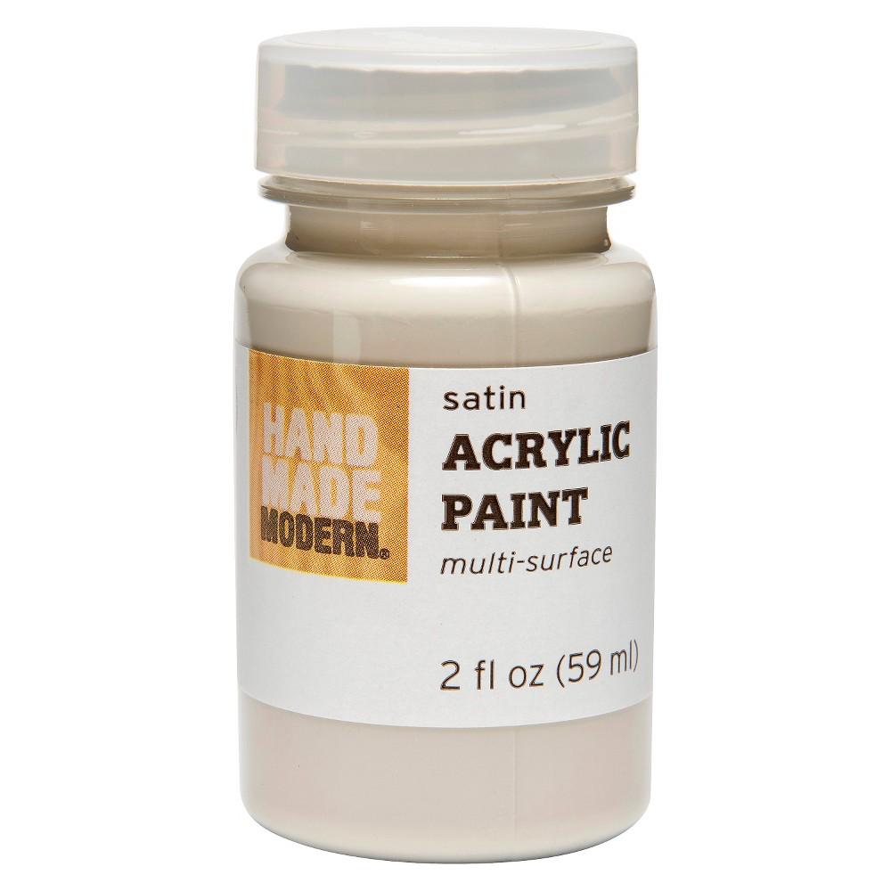 Hand Made Modern - 2oz Satin Acrylic Paint - Aluminum (Silver)