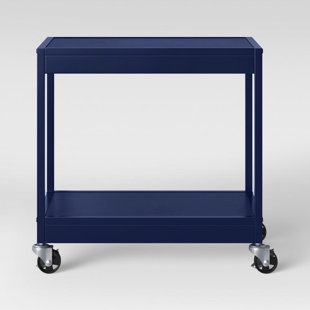 2 Tier Metal Utility Cart Navy (Blue) - Room Essentials