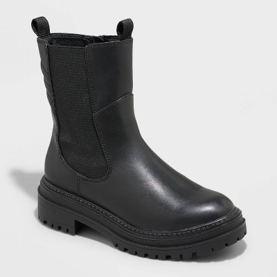 Women's Laura Gore Chelsea Boots - A New Day™ Black
