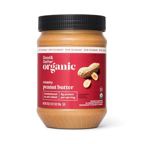 Organic Stir Creamy Peanut Butter - 28oz - Good & Gather™ - image 1 of 2