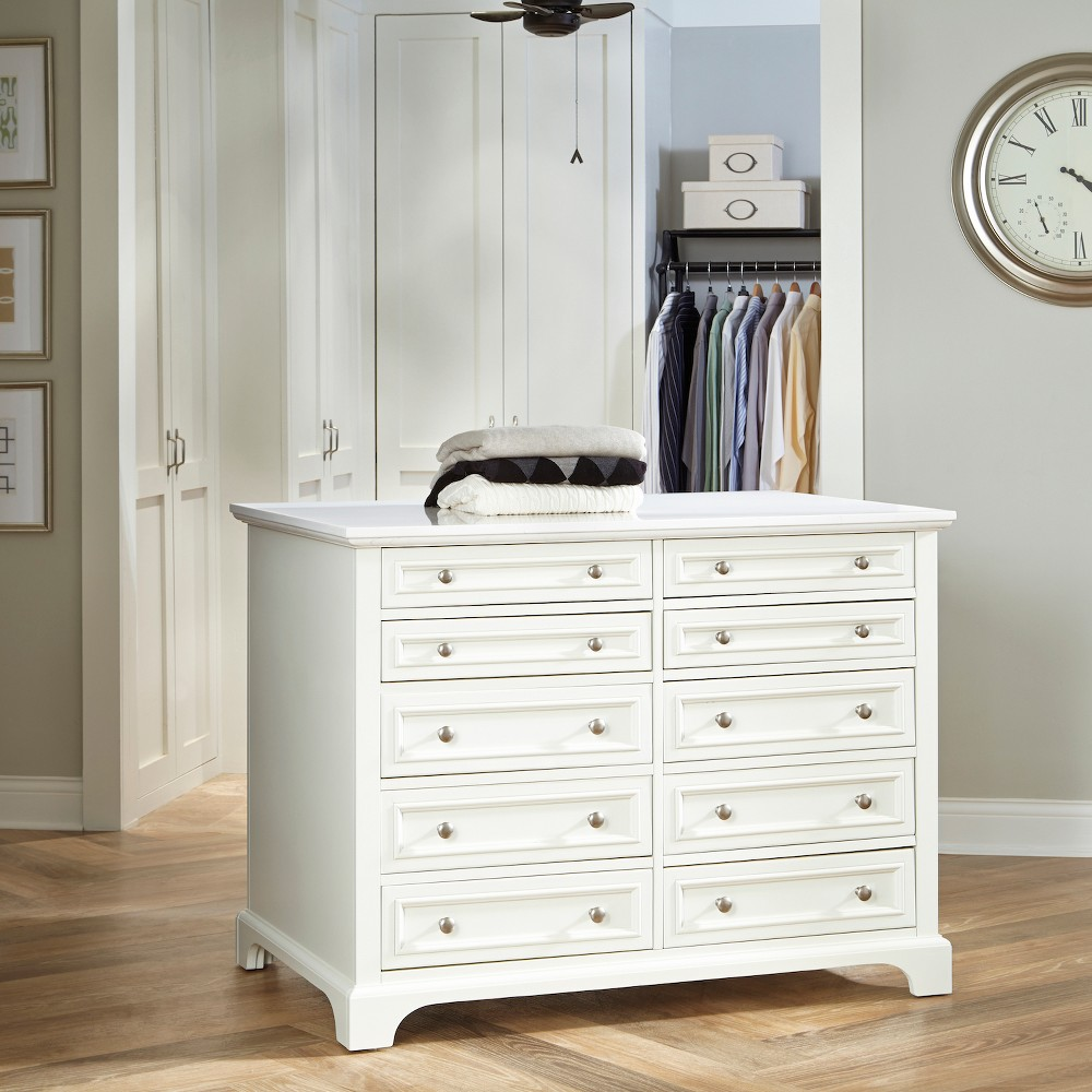 Image of Naples Closet Island - White - Home Styles