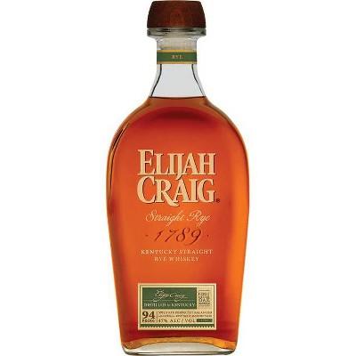 Elijah Craig Rye Whiskey - 750ml Bottle
