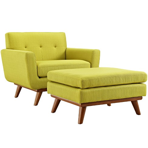 Engage 2pc Armchair and Ottoman Wheatgrass - Modway - image 1 of 7