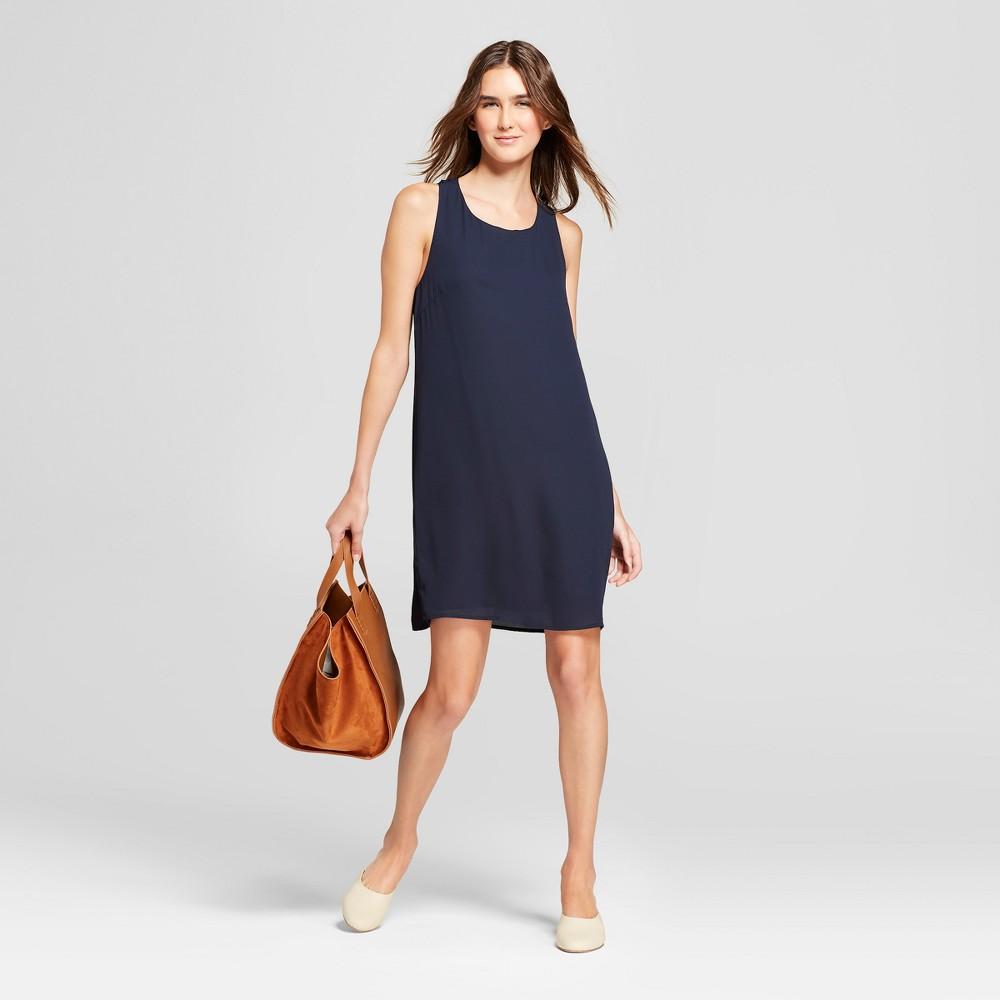 Women's Sleeveless A Line Dress - Éclair Navy M, Blue