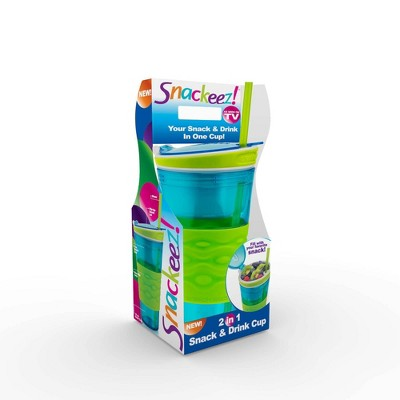Snackeez 2-in-1 Snack & Drink Cup Blue/Green