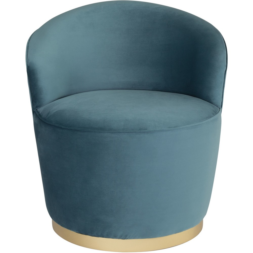 Luxe Velvet Swivel Arm Chair Green - ZM Home