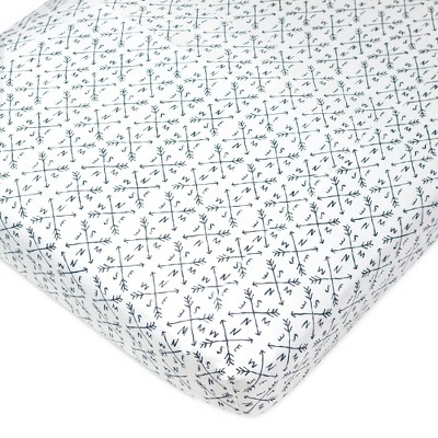 Honest Baby Organic Cotton Fitted Crib Sheet - Compass