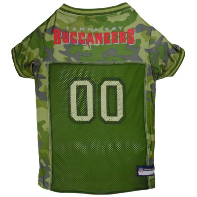 Tampa Bay Buccaneers Pets First Camo Pet Football Jersey - Camo XL