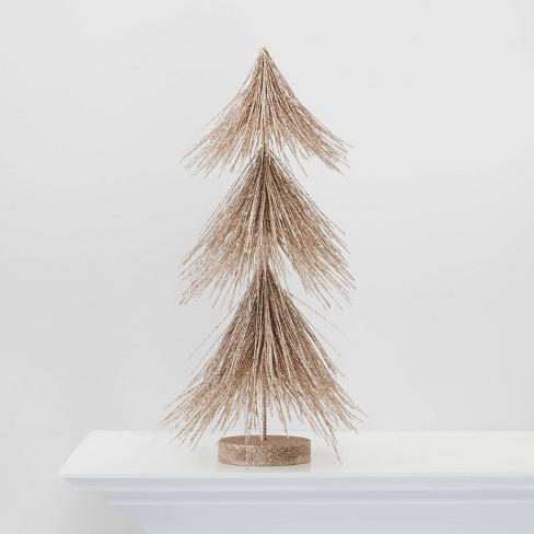 Large Gold Glitter Christmas Tree Decorative Figurine - Wondershop™ - image 1 of 2