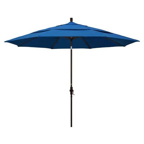 11' Patio Umbrella in Pacific Blue - California Umbrella - image 1 of 2