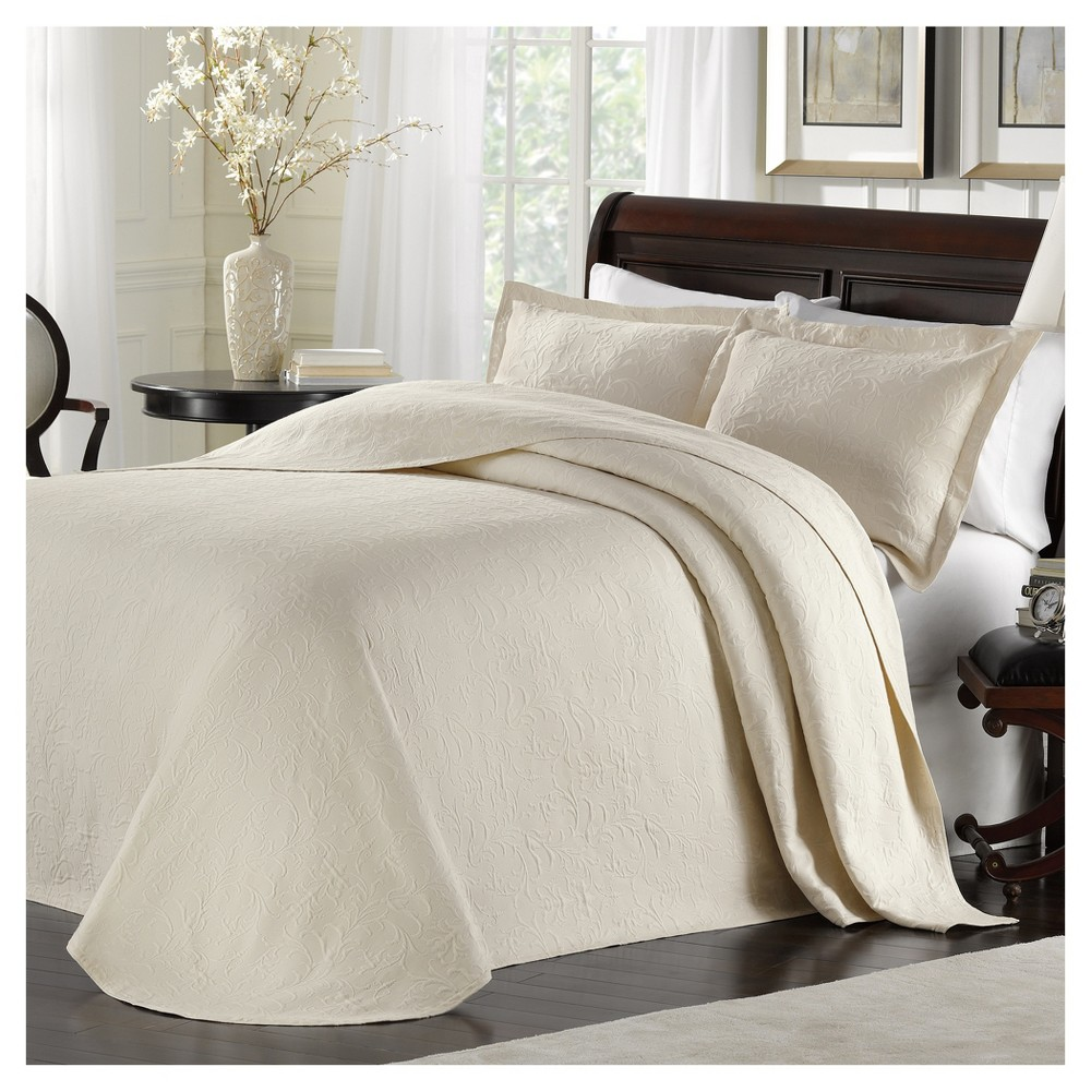 Ivory Majestic Bedspread (Queen) - LaMont Home