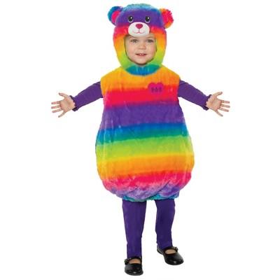 Toddler Build-A-Bear Rainbow Cuddles Teddy Belly Halloween Costume