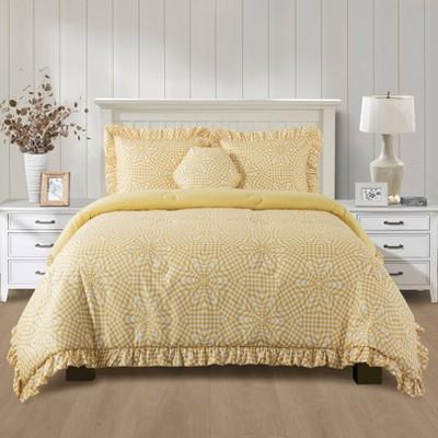 Sunshine Gingham Comforter Set - Country Living