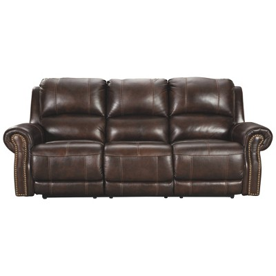 Buncrana Power Reclining Sofa with Adjustable Headrest Chocolate Brown - Signature Design by Ashley