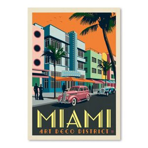 Americanflat Usa Miami Art Deco District By Anderson Design Group Poster Target