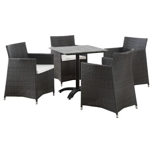 Junction 5pc Square All-Weather Wicker Patio Dining Set - Modway - image 1 of 7