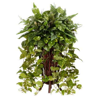 Nearly Natural Vining Mixed with Decorative Stand Silk Plant