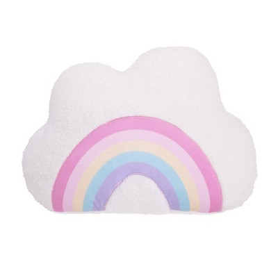 Little Love by NoJo Rainbow Cloud Pillow