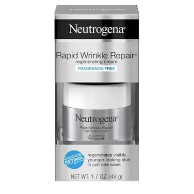Neutrogena Rapid Wrinkle Repair Hyaluronic Acid & Retinol Face Cream - 1.7oz