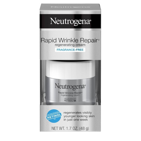 Neutrogena Rapid Wrinkle Repair Hyaluronic Acid & Retinol Face Cream - 1.7oz - image 1 of 4