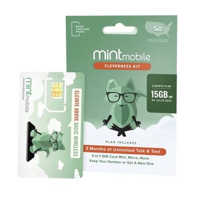 Mint Mobile 6 Month 15GB/mo Plan SIM Kit