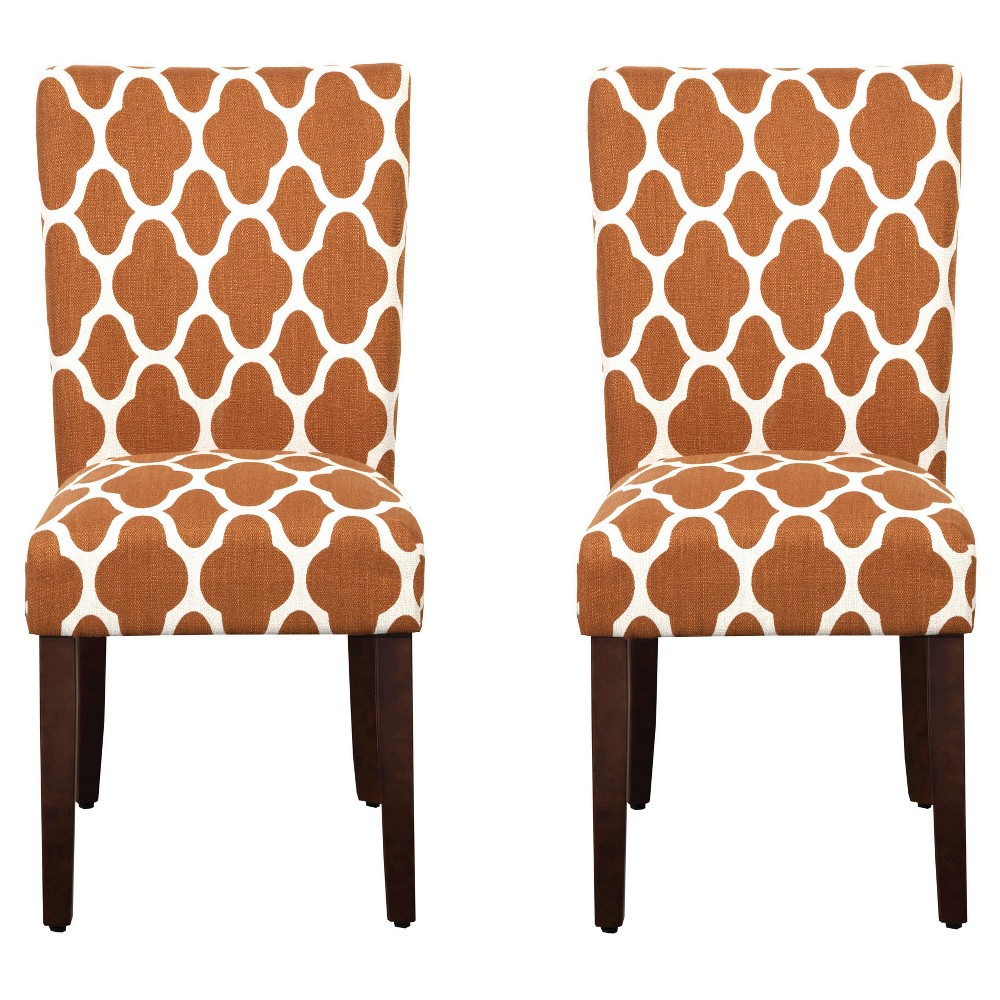 Set of 2 Parson Dining Chair Rust Geo - HomePop was $209.99 now $157.49 (25.0% off)