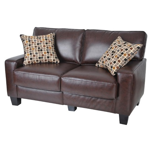 "Serta® RTA Palisades Collection 61"" Loveseat in Chestnut Brown, CR43532P - image 1 of 5"