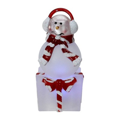 """Northlight 3.75"""" LED Lighted Color Changing Snowman with Ear Muffs Christmas Table Top Decoration"""