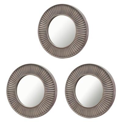 Round Mirror Set of 3 Gray - Threshold™