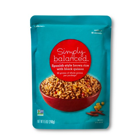 Spanish Style Brown Rice with Black Quinoa Microwaveable Pouch 8.5oz - Simply Balanced™ - image 1 of 1