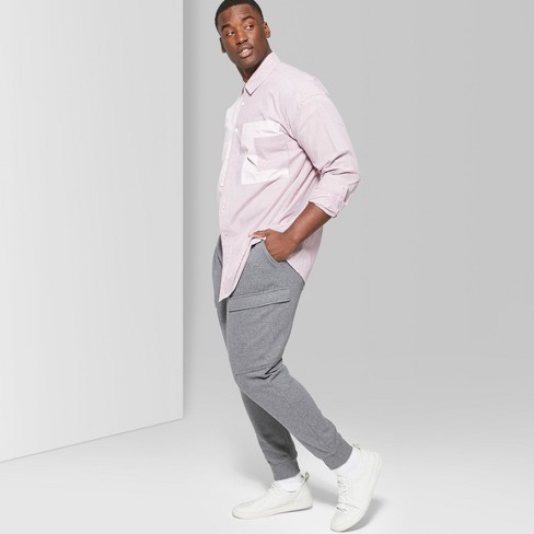 Men's Big & Tall Mid-Rise Knit Cargo Jogger Pants - Original Use™ Quill Gray - image 1 of 3