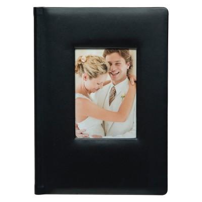 Pinnacle Albums 12.5  x 8 .5  Premium Leather Photo Album Black