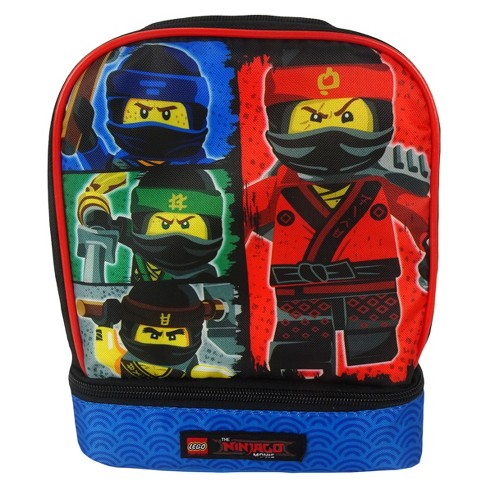"Lego Ninjago 9"" Dual Compartment Lunch Bag - image 1 of 4"