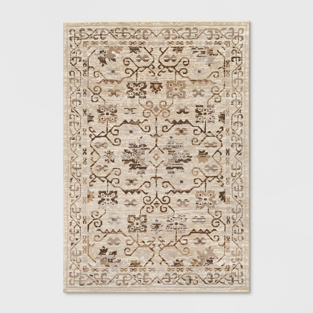 Neutral Jacquard Woven Area Rug 7'x10' - Threshold, Beige