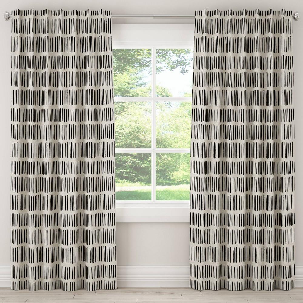 Unlined Curtains Dash Cream White 96L - Skyline Furniture, Beige