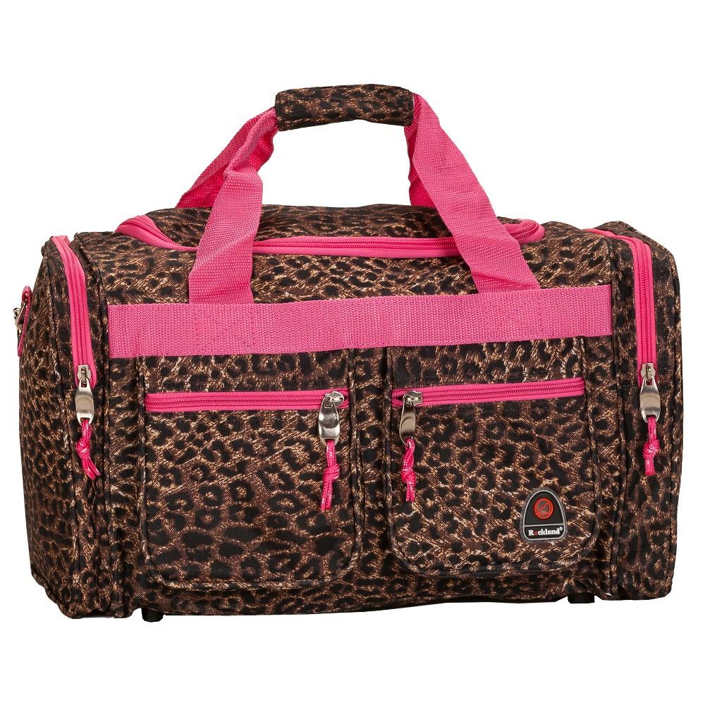 Rockland Tote Bag - Pink Leopard (19), Brown