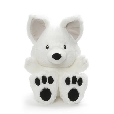 "G by GUND Silly Pawz Arctic Fox Plush Stuffed Animal White 12"""