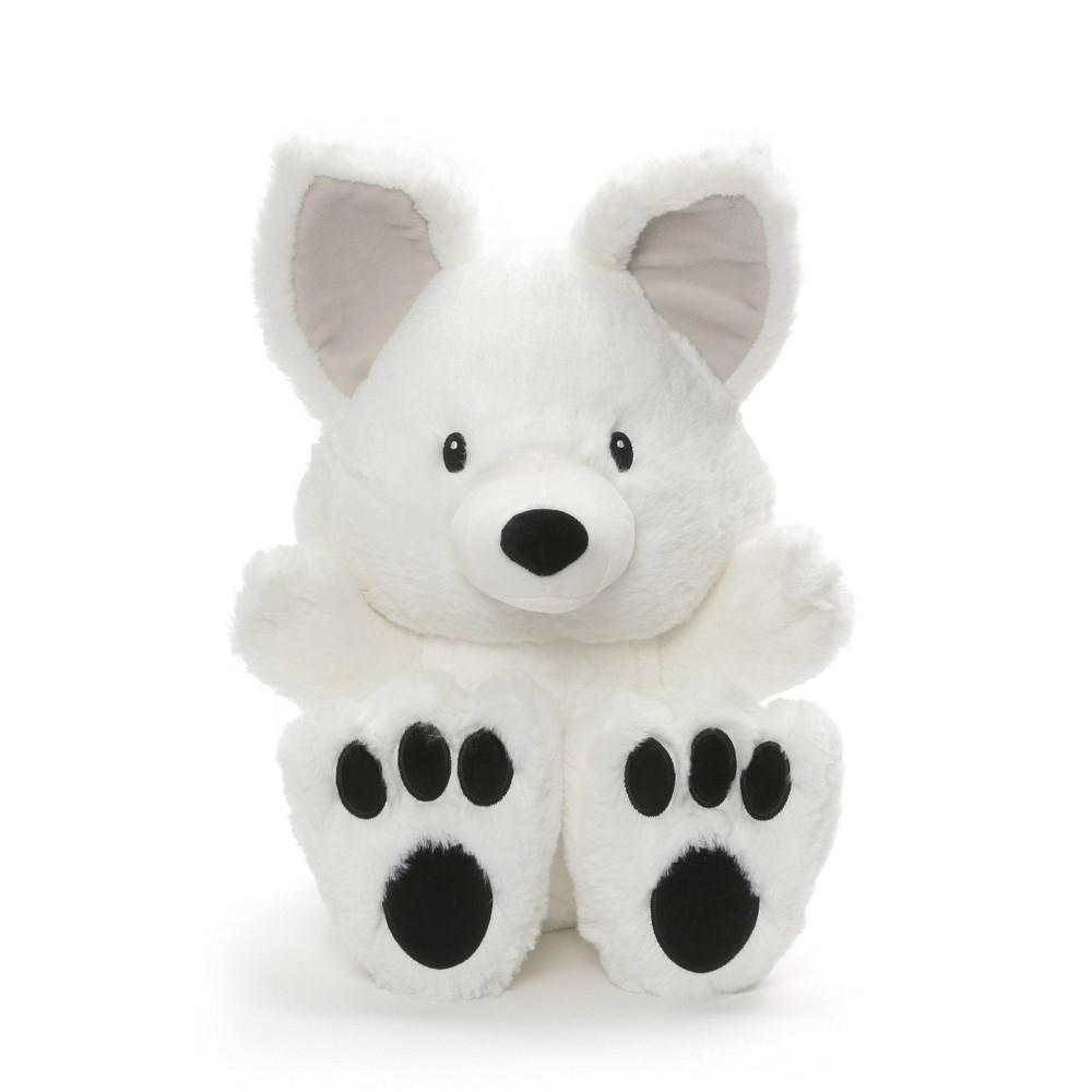 G by Gund Silly Pawz Artic Fox Plush Stuffed Animal White 12