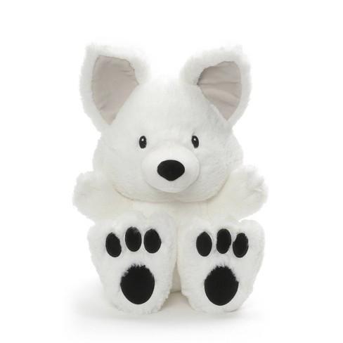 "G by GUND Silly Pawz Arctic Fox Plush Stuffed Animal White 12"" - image 1 of 3"