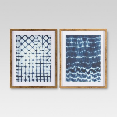 2pk Shibori Wall Art - Threshold™