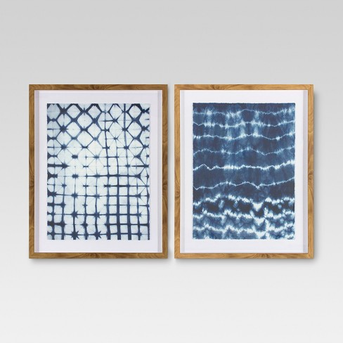 2pk Shibori Wall Art - Threshold™ - image 1 of 4
